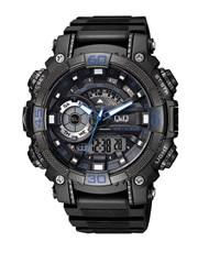 QQ Gents Outdoors Black Plastic Watch.  Analogue D
