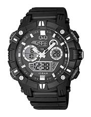 QQ Gents Quartz Outdoors Plastic Watch.  Black Ana