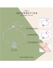 Silver Adjustable Dream Catcher Bracelet . Get thi