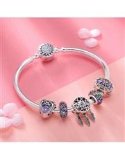 Silver Rainbow Dream Catcher Charm Bracelet