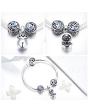 Silver Blue Stone Surprize Charm Bracelet.  Get th