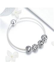 Silver Filligree Love Charm Bracelet.  Get this Br