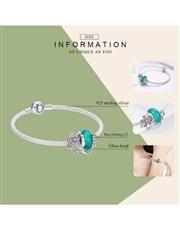 Silver Aqua Charm, And Mesh Charm Bracelet. Get th