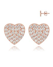 Sterling Silver 925 Rose Gold Plated Heart Shape S