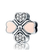 Sterling Silver 925 Pandora Compatible Clover hear