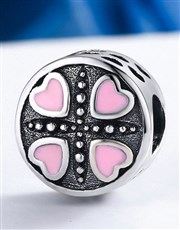 Sterling Silver 925 Pandora Compatible Round Charm