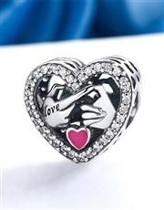 Sterling Silver 925 Pandora Compatible open heart