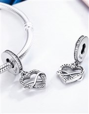 Sterling Silver 925 Pandora Compatible Open Heart