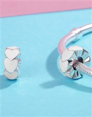 Sterling Silver 925 Pandora Compatible Heart Space