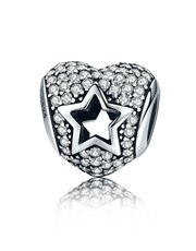 Sterling Silver 925 Pandora Compatible Heart Charm