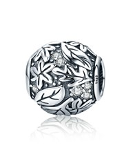 Sterling Silver 925 Pandora Compatible Round Fores