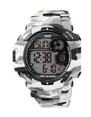 QQ Gents Outdoors Grey Army Plastic Watch.  Digita