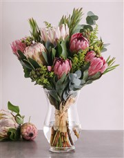 Protea Blooms In A Vase