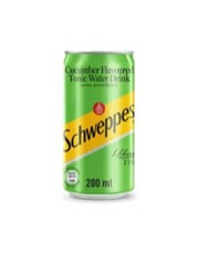 SCHWEPPES CUCUMBER TONIC CAN 200ML.