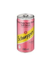 SCHWEPPES FLORAL PINK TONIC CAN 200ML.