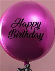 Metallic Bright Pink Celebrations Balloon Gift