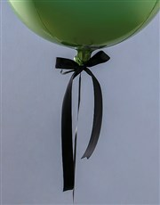 Metallic Blue And Green Ombre Balloon Gift