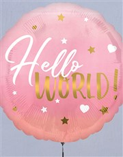 Hello World Pink Balloon Gift