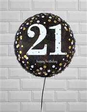 Terrific Twenty First Birthday Balloon