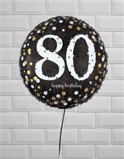 Elegant Eightieth Birthday Balloon
