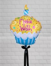 Make A Wish Cupcake Balloon Gift