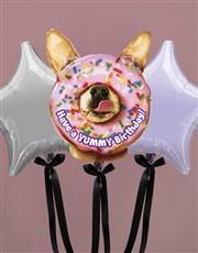 Dog In A Donut Birthday Balloon Gift
