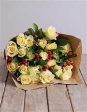 Bouquet of stylish cream roses, Perfect for any oc