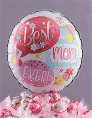 Balloons for Mom Edible arrangement