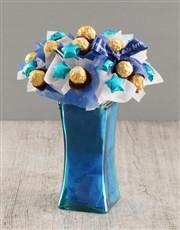 Blue Ferrero Edible Arrangement