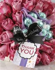 Thank You Purple Rose Edible Arrangement