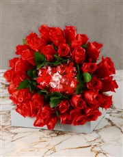 Red Is The Colour Of Love Edible Bouquet