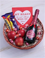 My Heart Bubbly and Choc Basket