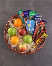Get Well Fruit and Choc Basket