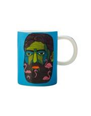 Mulga the Artist Mug Flamingo Man