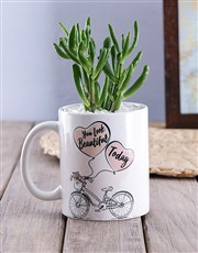 You look Beautiful Succulent Mug