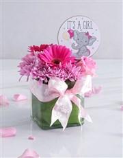 Baby Girl Square Vase