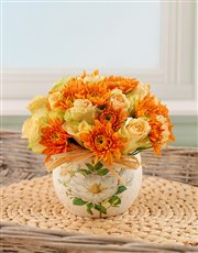 Orange and Cream Arrangement