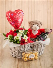 Celebrate love with this gift. A basket filled wit