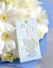 Baby Boy White Florals