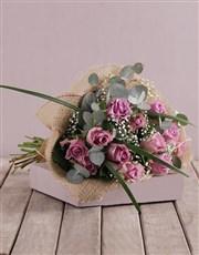 Assorted Purple Rose Bouquet
