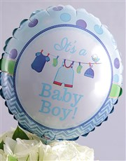 Baby Boy and Blue Arrangement