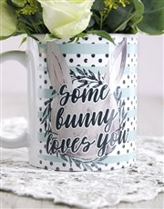 Some Bunny Loves you Floral Mug Arrangement