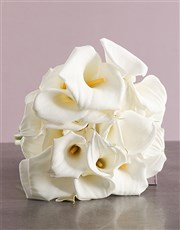 Arum Lilies in a bouquet, a sophisticated gift to