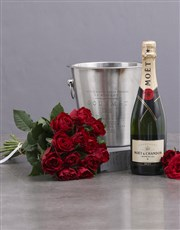 Sweep her off her feet with a bottle of Moet  cham