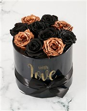 Magical Black and Gold Preserved Roses
