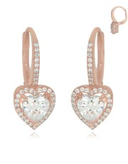 Sterling Silver 925 Rose pave set cubic zirconia h