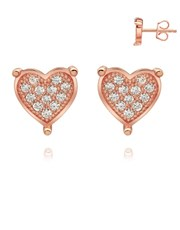 Sterling Silver 925 Rose pave set cubic zirconia s