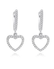 Sterling Silver 925 Pave set Cubic Zirconia Heart