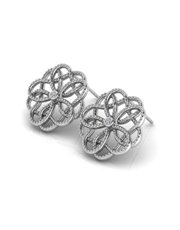 Sterling Silver 925 WHY Intertwined Floral Motif E
