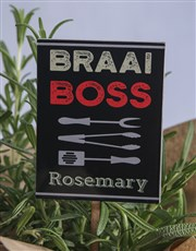 Rosemary With Braai Boss Sticker